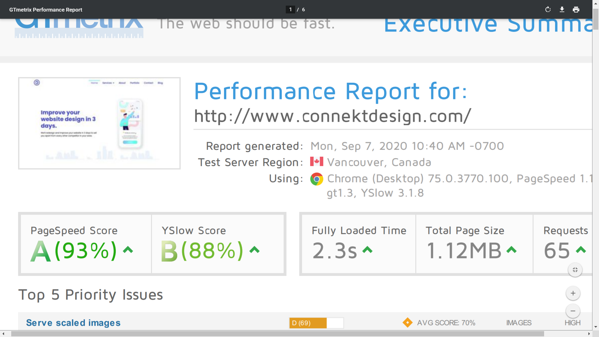 Free Performance & SEO Reports on delivery